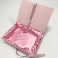Pink Paper Folding Hair Packaging Presentförpackning