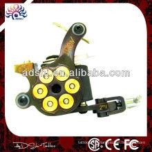 Machine à tatouer Shader à la main de Damas, pistolet à tatouage à 10 rouleaux avec cadre en fonte de fer