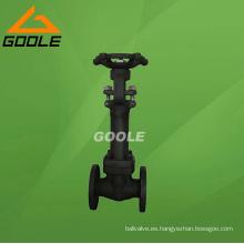 Válvula de compuerta sellada con fuelle de acero compacto (GAWZ41H)
