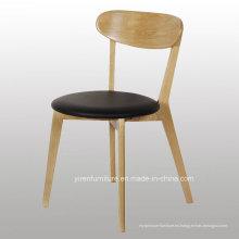 Alta silla de café de madera sólida Quanlity con asiento suave