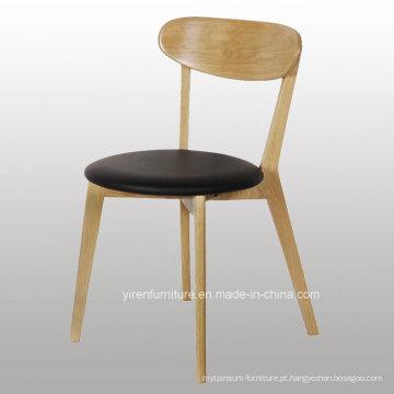 Cadeira alta do café da madeira contínua de Quanlity com assento macio