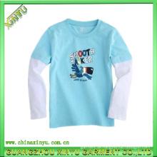 2016 Großhandel leuchten Plain Baumwolle Kinder T-Shirts