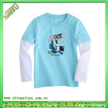 2016 Wholesale Light up Plain Cotton Kids T Shirts
