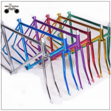 700C electroplate painting steel fixed gear bike frame