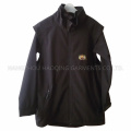 Black 4-Way Stretched Fabric Waterproof Raincoat for Adult Man