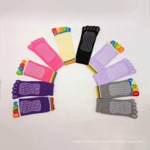 JW Yoga Socks Women Non-Slip Grips & Straps Fitness Custom Toe Yoga Pilates Socks