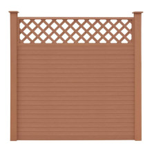 WPC Composite Wood Privacy Fence Screen Gates Aluminum Frame for Swimming Pool Garden Fence Trellis Better Than Vinyl PVC Fence