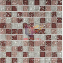 Pink and Super White Crystal Ice-Cracked Mosaic (CC160)