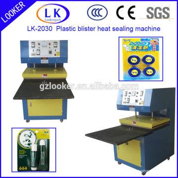 2 estación de trabajo de plástico blister y tarjeta de sellado por calor máquina