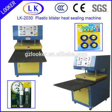 2 working station plastic blister and card heat sealing machine