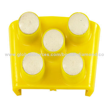Finger resin dry polishing pad for concrete floors