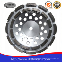 180mm Double Row Cup Wheel for Stone and Concrete