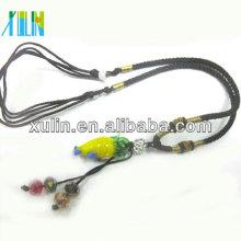 perles en forme de maïs de verre de murano de haute qualité avec des pendentifs de cordon