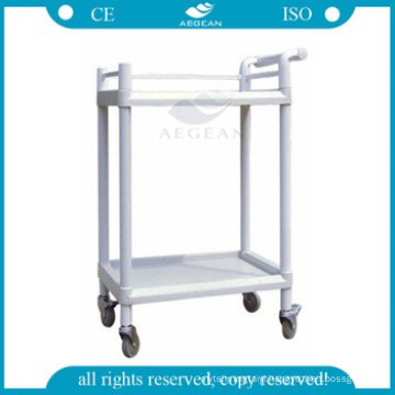 AG-UTA05 two shelves approved luxurious clinic medication trolley