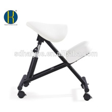Assento de sela ergonómica cadeira ajoelhada, fezes ajustáveis para casa, escritório e meditação (malha)