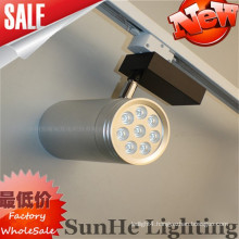 All silver reflector Black & White smooth surface led track light using on hotel & toggery