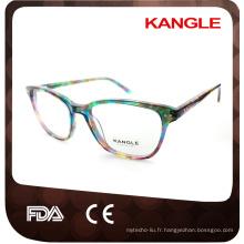 Lady style haute couture acétate cadres optiques et lunettes lunettes