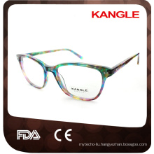 Lady style high fashion acetate optical frames and eyeglasses eyewear
