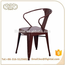 Chaise de bar industrielle de cuivre bon marché en gros avec des bras nouveau design chaise de café coloré de loisirs
