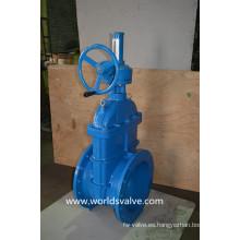 Válvula de compuerta de engranaje cónico con indicador de posición
