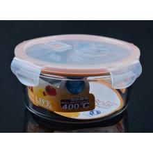 Azucarero de cristal de la categoría alimenticia con la tapa
