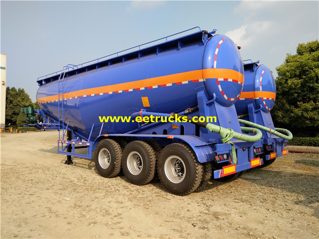3 Axle Bulk Powder Tank Trailers