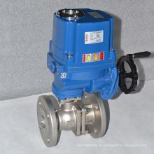 válvula de controle de fluxo elétrico de alta pressão ss304