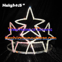 Rhinestone Pageant Crowns In Star Shaped