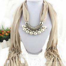 Charme élégant de glands de mode de femmes strass décoré bijou écharpe bijoux