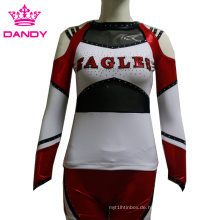 Benutzerdefinierte All Stars Metallic Langarm Cheerleading Uniformen