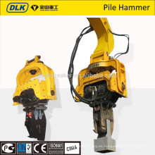 El excavador de la marca DLK montó el vibro hammer de china suppler