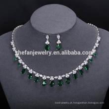 ZheFan atacado vestido de noiva conjuntos de jóias dubai conjunto de jóias personalizadas
