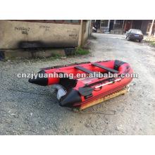 (CE ) Korea pvc 5-6 persons Aluminum floor Inflatable dinghy boat
