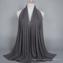 OEM fabrication solide couleur bulle mousseline de soie musulmane hijab écharpe dubai