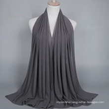 OEM manufacture solid color bubble chiffon muslim hijab scarf dubai