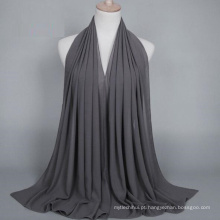 OEM fabricar cor sólida bolha chiffon hijab muçulmano cachecol dubai