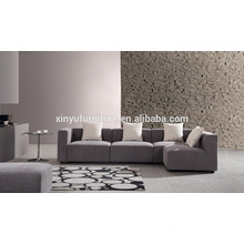 2015 Grey L shaped furniture upholstered fabric sofa XYN2059