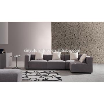 2015 Grey L shaped furniture upholstered fabric sofa XYN2059