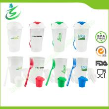 BPA Free Salad Cup Set für Obst und Gemüse
