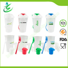 Juego de taza de ensalada libre de BPA para frutas y verduras