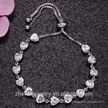2018 mode nouvelles tendances bracelet extensible bracelet en forme de coeur en or blanc 18 carats