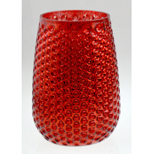 Red Pineapple Candle Holder for X′mas Day