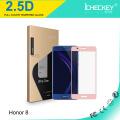 La impresión de seda de la cubierta completa 2.5D moderó el protector de cristal de la pantalla para Huawei Honor8