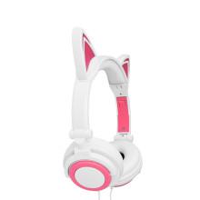 glowing cat ear professional headphone for kids