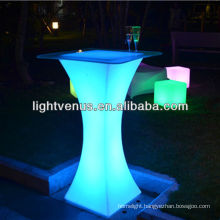 Long distance remote control factory direct sale color changing cocktail led table