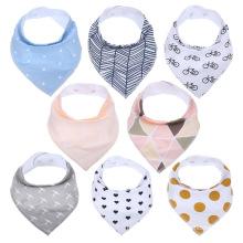 Absorbent baby bibs100% cotton unque design bibs bandana