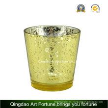Cristal de mercurio velo Tealight Candle Jar para la decoración de Navidad