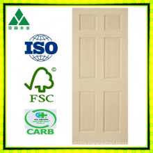 Poplar 6 Panel Veneer Wood Door