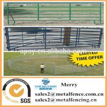 le plus bas prix métal ranch corral clôture panneau / galvainzed clôture de la ferme d'élevage avec la porte pour la vache de mouton de cheval