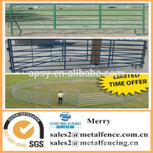 lowest price metal ranch corral fence panel /galvainzed livestock farm fence with gate for horse sheep cow